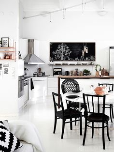 decordemon: A black & white apartment in Finland by Krista Keltanen Photography