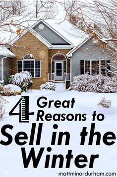 Why selling your house in the winter may be your smartest move. Real Estate Articles, Real Estate Tips, Sell Your House Fast, Selling Your House, Denver, Home Staging Tips, Home Buying Tips, Selling Real Estate, Home Hacks