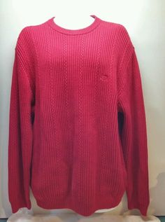 Men's Red Sweater by Chaps crew neck size L