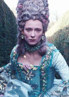 Tilda Swinton as Marie Antoinette Correction Lady Orlando Tilda Swinton, Orlando Film, Gq, Sandy Powell, Tv Movie, Movie List, Elizabeth I, Movie Costumes, Costume Design