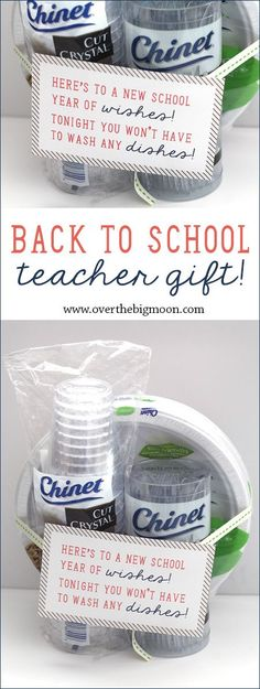Back to School Teacher Gift Idea - disposable tableware is genius! Teachers are…