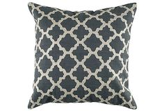 Lattice 18x18 Cotton Pillow, Gray on OneKingsLane.com #Anthropologie #PinToWin
