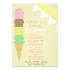 24 ice cream birthday invitations ideas