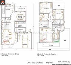 Sobrado - 3 Quartos - 159.96m² - Monte Sua Casa