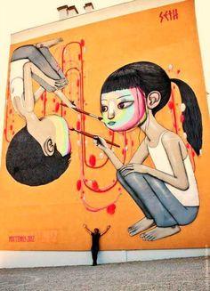 #SETH #GLOBEPAINTER #streetart #arturbain #Graffiti #newmurals #art #artists Venez nous rencontrer  sur le salon 8° AVENUE à PARIS du 22 au 26 octobre prochain, avenue des Champs-Elysées / STAND 524E.  Rens. : streetartgalerie@gmail.com
