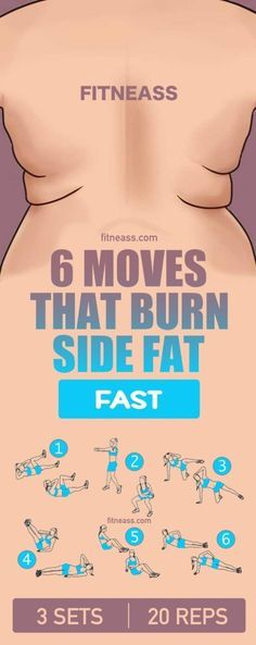 "GONE In 13 Days With This Strange ""Carb-Pairing"" Trick 6 moves that burn side fat fast.c… 6 moves that burn side fat fast. Fitness Workouts, Best Core Workouts, Fitness Diet, At Home Workouts, Fitness Motivation, Health Fitness, Yoga Fitness, Side Workouts, Exercise Workouts"