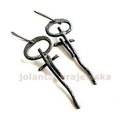 earrings sterling silver earrings key to the by jolantakrajewska