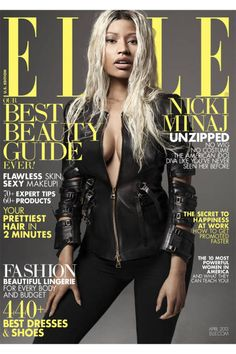 Nicki Minaj April 2013 Cover - Nicki Minaj Fashion Shoot - ELLE