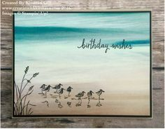 Serene Scenery Designer Paper Stack makes quick easy cards - this one using Wetland Stamp Set #stampinup #wetlands #serenescenery #creatinwithkirsteen