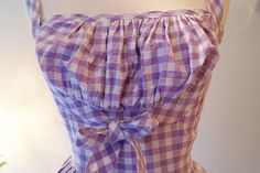 50s Dress // Vintage 1950s So Cute Gingham Dress by xtabayvintage, $125.00