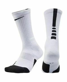 34bd0ba9c NIKE Men's Basketball Elite Cushioned Crew Basketball White Socks Size S  NEW #Nike #Crew