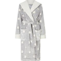 John Lewis Star Embossed Fleece Dressing Gown (710.590 IDR) ❤ liked on Polyvore featuring intimates, robes, pajamas, john lewis, fleece dressing gown, bath robes, fleece bathrobe and dressing gown