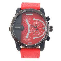 12.00$  Watch here - http://aliwr8.shopchina.info/go.php?t=32706184283 - JUBAOLI Fashion 1088 Quartz Watch PU Band Large Case Unique Pionter Design Analog Round relogio feminino 12.00$ #buyonlinewebsite