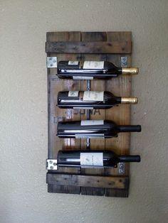 Wall Wine Rack made from Reclaimed Vintage by AspenBottleHolders