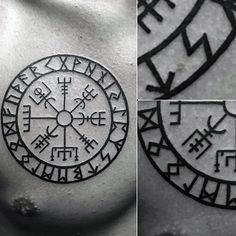 nice Tattoo Trends - Mens Circular Viking Compass Upper Chest Tattoo...