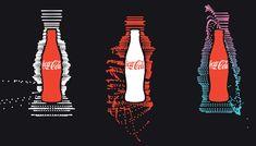 Identidade visual da Coca Cola Music, feita Wieden + Kennedy Amsterdam. #Coke #branding #music