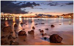 Hamnen i vackra och mysiga Los Cristianos, Teneriffa.