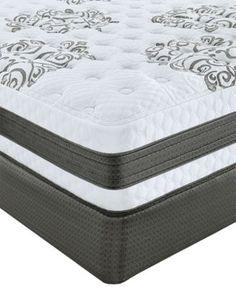 serta perfect sleeper soothing retreat cushion firm gel memory foam queen split mattress set