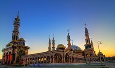 Islamic Center at Samarinda, Indonesia Islamic Architecture, Architecture Design, Islamic Center, Beautiful Mosques, Unique Image, Moorish, Southeast Asia, Cambodia, Laos