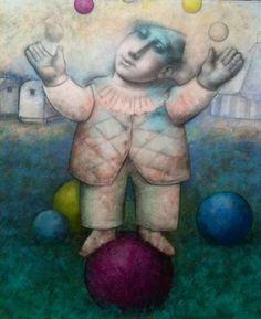 'MALABARISTA' Painting, Contemporary Art, Painting Art, Paintings, Paint, Draw