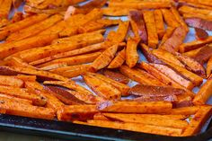 Sweet potato fries - Tried them last night using yams... fast and yummy!