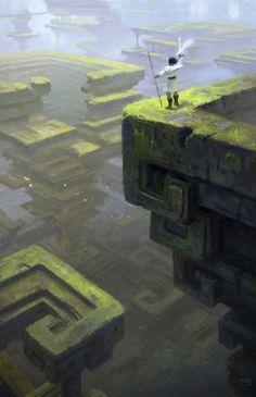 fantasy-art-engine:  Bismuth Ruins by Kazunori Aruga