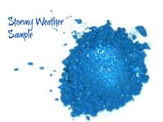 SAMPLE Stormy Weather Blue Loose Powder Mineral by MadeByMandikins, $1.25