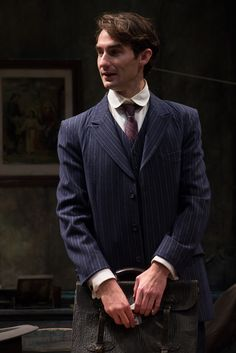 James Higgins returns to the Irish Rep stage as Kevin in Port Authority.  Pictured in his role as Charlie Bentham in Juno and the Paycock. Photo by Carol Rosegg.