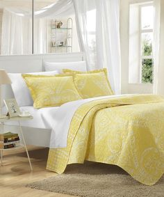 Love this Yellow Revenna Reversible Quilt Set by Chic Home Design on #zulily! #zulilyfinds
