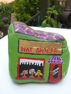Hey, I found this really awesome Etsy listing at https://www.etsy.com/listing/168610323/hand-painted-rock-hat-store-shop