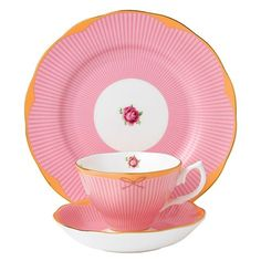 Shop Royal Albert - Candy Collection Sweet Stripe Set at Peter's of Kensington. View our range of Royal Albert online. Why in the world would you shop anywhere else for Royal Albert? Hot Candy, Pink Candy, Candy Sweet, Emma Bridgewater, Royal Albert, Tea Cup Saucer, Tea Cups, Coffee Cups, Tea Places