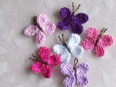 crocheted butterfly - Google Search