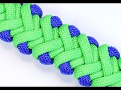 How to make the Modified Double V Paracord Survival Bracelet - BoredParacord.com - YouTube