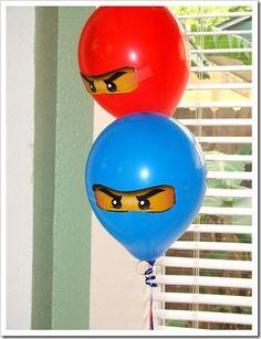 ninjago party balloons! Best boy balloons I've seen yet.