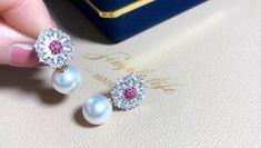 Ruby Jewelry, Ruby Earrings, Ear Jewelry, Rose Gold Earrings, Jewellery, Gypsy Bracelet, Moon And Star Ring, Princess Jewelry, Gold Necklace Simple