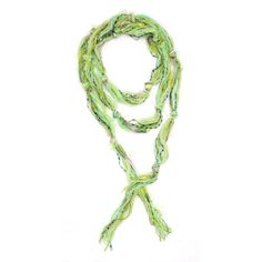 Skinny Scarfs Lime Green Scarf Fringe Scarves by jamesdillehay