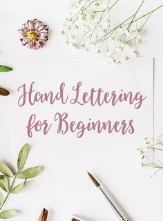 Hand lettering can appear to be a daunting task, but when you break it down to the fundamentals, it's simpler than it seems. Hand Lettering Alphabet, Script Lettering, Brush Lettering, Calligraphy Handwriting, Caligraphy, Modern Calligraphy, Hand Lettering For Beginners, Hand Lettering Tutorial, Diy Wood Signs