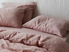 Ultra Luxurious Pure French Linen Quilt Cover in Wildflower Pink Duvet Bedding, Crib Bedding Sets, Linen Bedding, Sheets Bedding, Bed Linens, King Comforter, Comforter Sets, Best Sheets, Signature Quilts