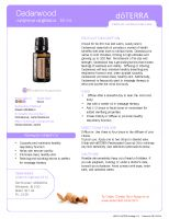 PDF File: Cedarwood Essential Oil Product Information Page