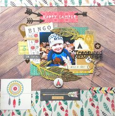 Imaginarium Designs : Happy Camper layout by Amanda Baldwin featuring Crate Paper Journey collection