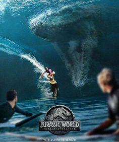 Mosasaur attack