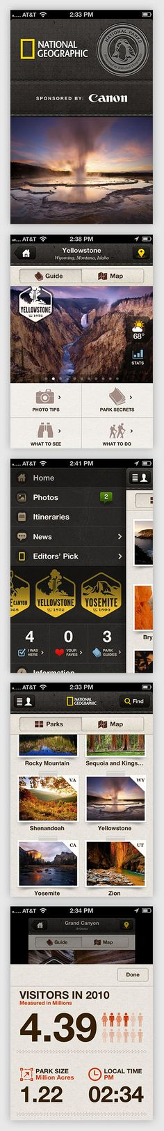 National Parks by National Geographic // iPhone App // Rally Interactive