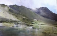 Watercolor Landscape, Watercolor And Ink, Abstract Landscape, Watercolor Paintings, Watercolours, Fashion Painting, Photography, Image, Painting Styles