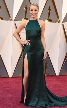 "Rachel McAdams from Todd Chrisley's Take on the 2016 Oscars ""Rachel made the right decision with Ryan Gosling, but the wrong decision with August Getty."" I love this gown."