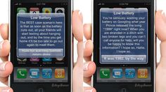 Your Phone's Low Battery Warnings Should Look Like These Hilarious Notifications