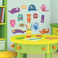 Monsters Peel & Stick Wall Decals. Monster themed classroom!!