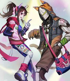 Dva and Genji http://bcy.net/illust/detail/20663/977761