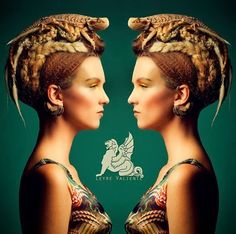 mikapoka: Spanish designer Leyre Valiente: amphibians from the black lagoon Love Monster, Black Lagoon, Crazy Hair, Art Music, Muse, Fashion Show, Hair Styles, Amphibians, Weird Hairstyles