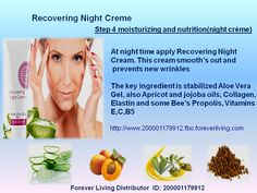 Aloe Fleur de Jouvence® Recovering Night Creme Recondition your skin while you rest! The moisturizers in Recovering Night Creme give life to the look and feel of your skin.  The moisturizers in Recovering Night Creme give life to the look and feel of your skin. It is designed for night use to condition the skin while the body rests, helping to restore the 'Flower of Youth' – skin that is youthful in its appearance.