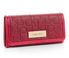 Calvin Klein Sadie Trifold Mega Continental Wallet Red Garnet - http://bags.bloggor.org/calvin-klein-sadie-trifold-mega-continental-wallet-red-garnet/